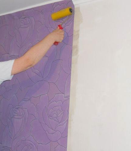 Поклейка моющихся обоев своими руками 51