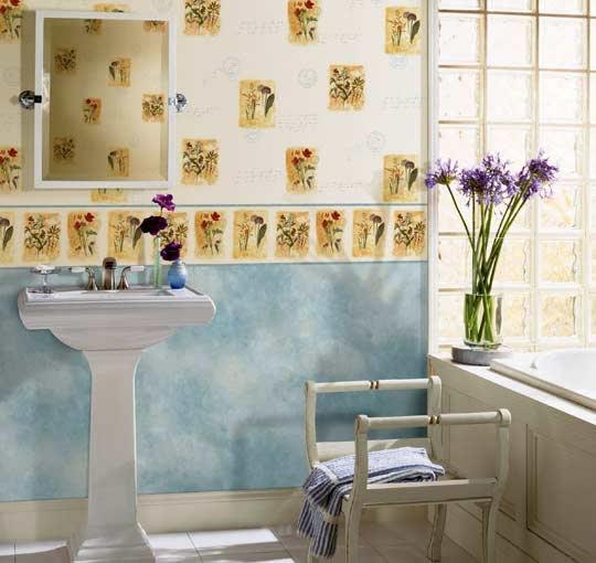 Фото 3 — Стеклообои для ванной комнаты