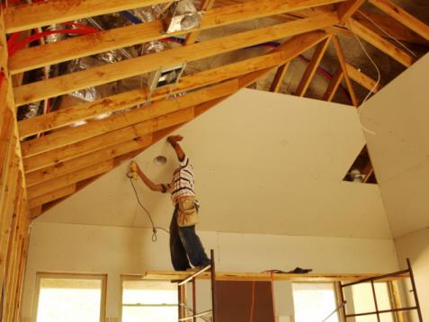 Гипсокартон своими руками в деревянном доме фото